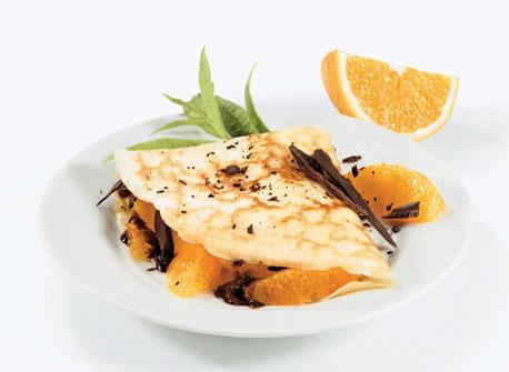 Crêpes à l'orange et au chocolat  Recette