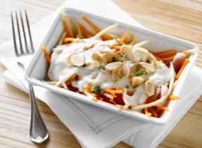 Tombée de panais, carottes et fromage Mozzarella