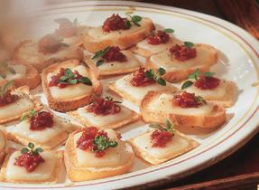 Brie au pesto de tomates séchées