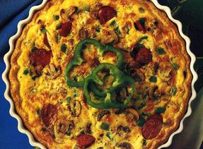 Quiche-pizza
