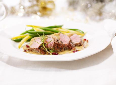 Filet de porc avec Gouda et canneberges Recette