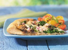 Pizza aux champignons portobellos et au fromage Suisse canadien