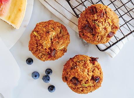 Muffins énergisants aux carottes, aux courgettes et aux dattes Recette