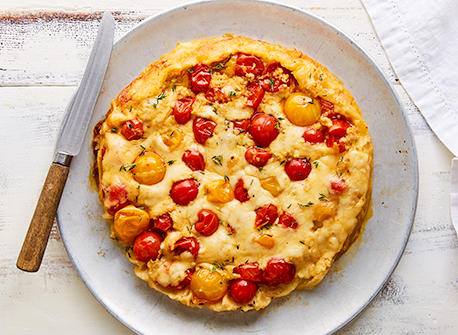 Tarte tartin au Provolone et aux tomates Recette