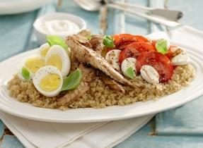 Salade express au maquereau et quinoa