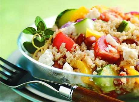 Salade de quinoa à la grecque Recette