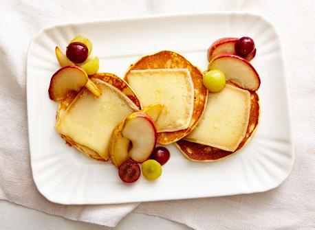 Crêpes à la Raclette et aux fruits Recette