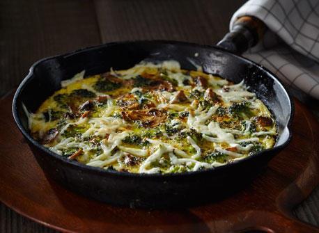 Frittata aux légumes grillés et à la Mozzarella Recette