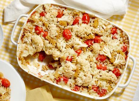 Pâtes aux tomates et au chou-fleur rôtis Recette