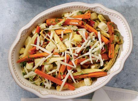 Salade de légumes-racines rôtis au fromage Gunn's Hill Five Brothers Recette