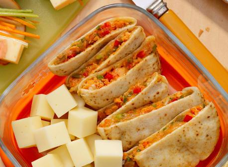 Mini quésadillas au saumon et au Provolone Recette