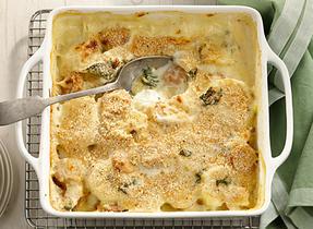 Casserole saucisse kale et pommes de terre