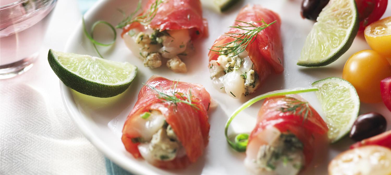Tartare de p toncles au saumon fum au fromage bleu for Hors d oeuvre avec saumon fume
