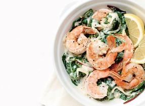Sauté aux crevettes et aux légumes verts