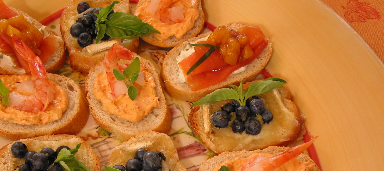 Canap s de saumon fum au chutney de mangue recette for Canape au saumon