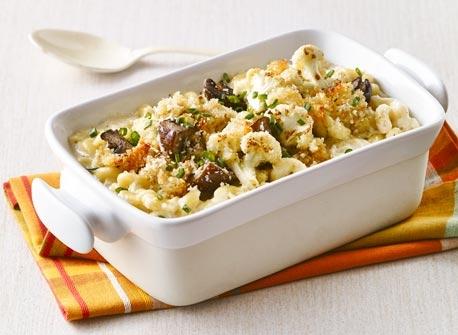 Macaroni au fromage fumé et au chou-fleur Recette