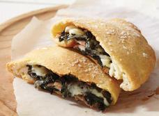 Pizza aux épinards et au Havarti recipe