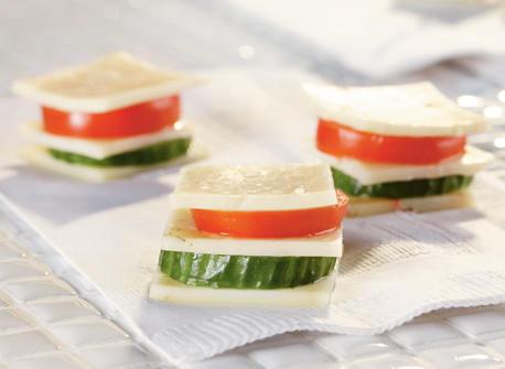 Étagé de légumes à l'Havarti Recette
