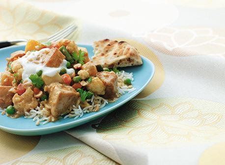 Curry au poulet et légumes super rapide Recette