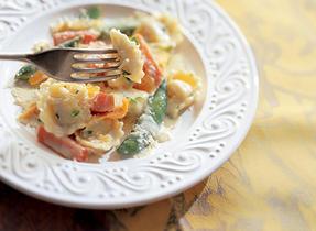 Tortellini extra rapide aux légumes