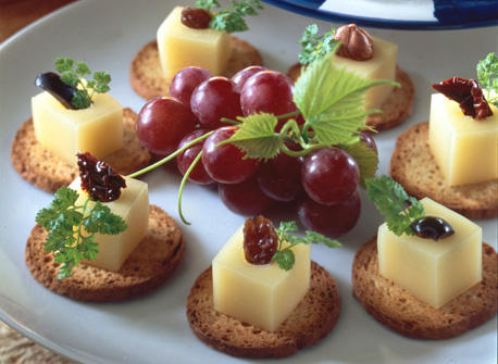 Canap s surprises de fromage gouda recette plaisirs laitiers for Canape au fromage