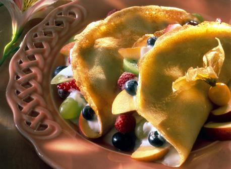 Crêpes aux fruits Recette