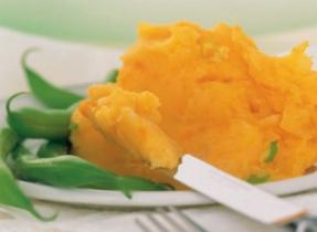 Purée de pommes de terre et de patates douces