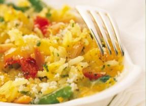 Riz et légumes au four