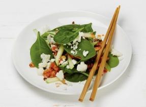 Salade asiatique tiède et croquante à la Feta