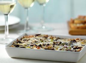 Trempette chaude aux champignons rôtis, à l'oignon vert et au Cheddar
