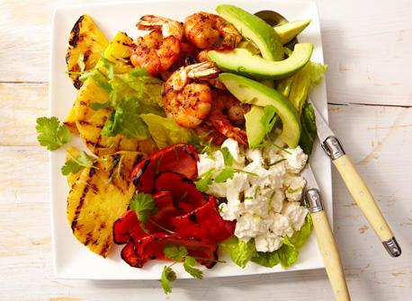 Salade tropicale tiède au Queso Fresco Recette