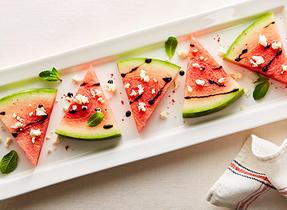 Bouchées Feta et Melon d'eau
