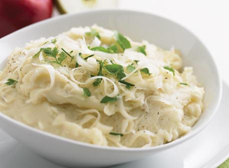 Purée de pommes de terre aux pommes et fromage recette | Plaisirs ...