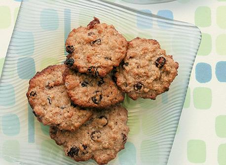 Biscuits à l'avoine, au miel et aux raisins Recette