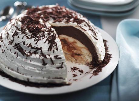 Bombe marbrée au chocolat Recette