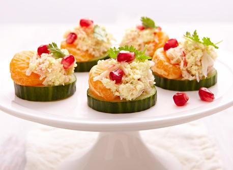 Bouch es au crabe et la ricotta recette plaisirs laitiers for Canape au fromage