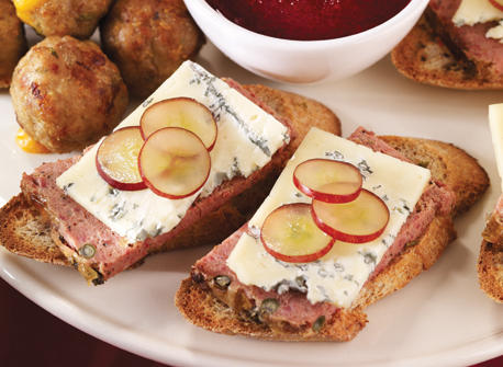 Bouchées au pâté et au fromage Bleu  Recette