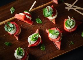 Brochettes Caprese tomate et melon