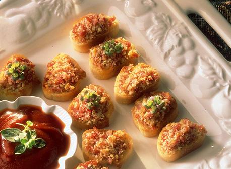 Canapés de prosciutto au Parmesan Recette