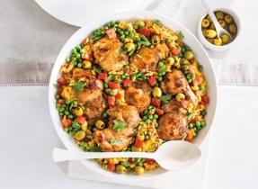 Casserole de riz et de poulet à l'espagnole