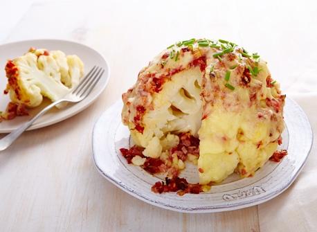 Chou-fleur au jambon et au fromage Recette