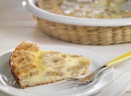 Clafoutis aux bananes cuit au four Recette