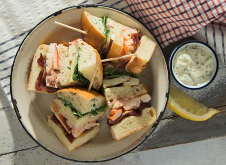 Club sandwich au homard et à la Mozzarella Recette