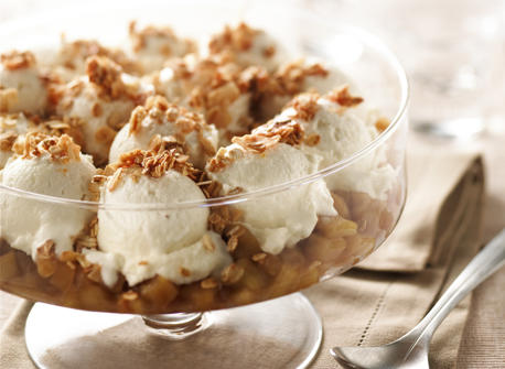 Croustade à la crème glacée et aux pommes caramélisées Recette