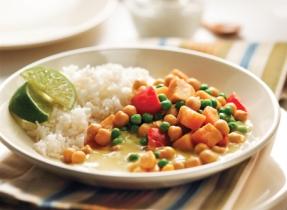 Curry végétarien aux patates douces et pois chiches