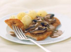 Escalopes de veau avec sauce Marsala aux champignons