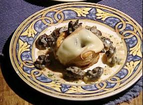 Feuilleté d'escargots à la crème et au fromage Migneron