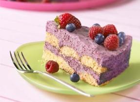 Gâteau aux bleuets sans cuisson