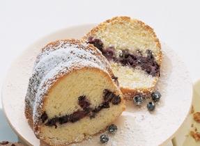 Gâteau danois aux bleuets et citron