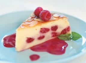 Gâteau estival aux framboises